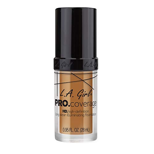 L.A. Girl Pro Coverage Liquid Foundation, Bronze, 0.95 Fl Oz