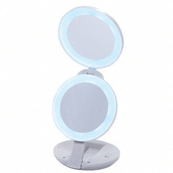 CRL Compact Travel Mirror with LED Surround Light ZLEDT01
