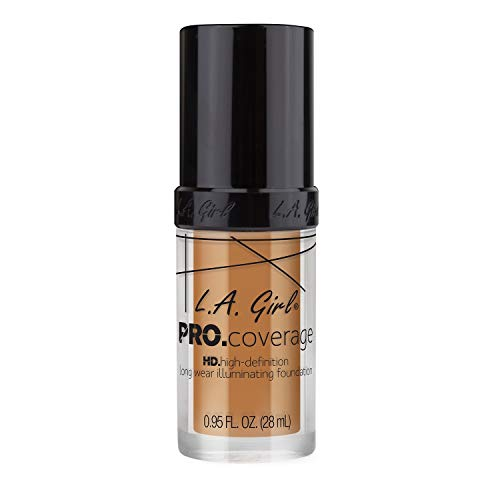 L.A. Girl Pro Coverage Liquid Foundation, Warm Beige, 0.95 Fl Oz