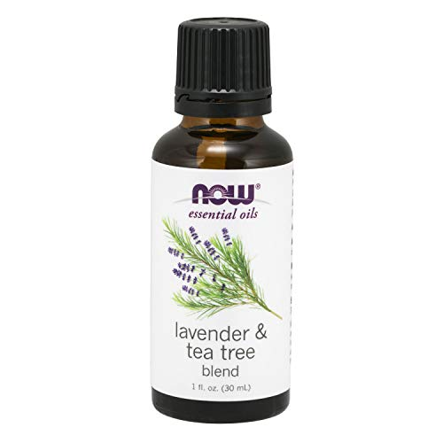 Now Essential Oils, Lavender & Tea Tree Oil, Stimulating Aromatherapy Scent,  Blend Of Pure Lavender