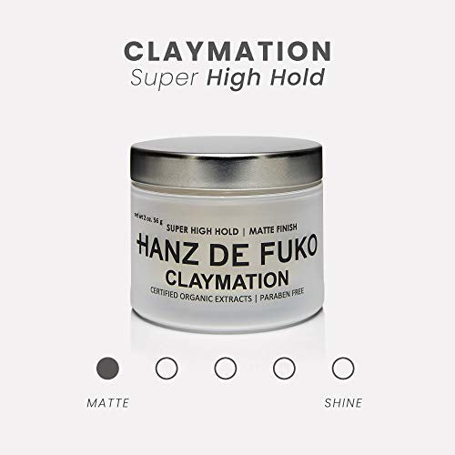 Hanz De Fuko Claymation  Premium Mens Hair Styling Clay With Matte Finish (2 Oz) Cruelty Free