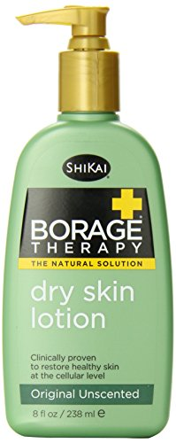 ShiKai - Borage Therapy Plant-Based Dry Skin Lotion, Soothing & Moisturizing Relief For Dry, Irritated & Itchy Skin, Non-Greasy, Sensitive Skin Friendly (Unscented, 8 Ounces)