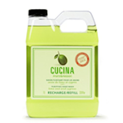 Fruits & Passion [Cucina]   Coriander And Olive Tree Liquid Hand Soap Refill, Antibacterial Kitchen