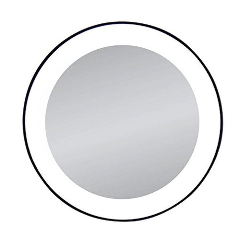 Zadro 15 X Magnification Next Generation Led Lighted Suction Cup Mirror, Black, Silver Finish