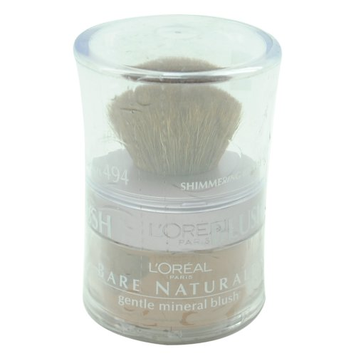 L'Oreal Bare Naturale Gentle Mineral Blush - Powder with Brush - # 494 - Shimmering Bronze