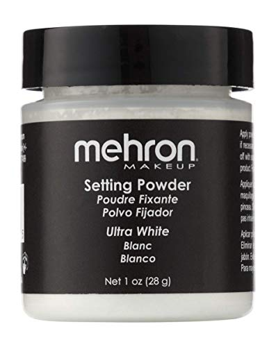 Mehron Makeup Setting Powder (1 oz) (Ultra White)