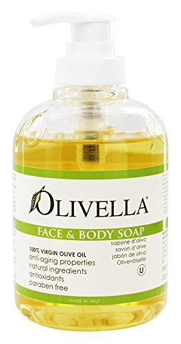 Olivella Virgin Olive Oil Face and Body Liquid Soap 10.14 oz (Pack of 2)