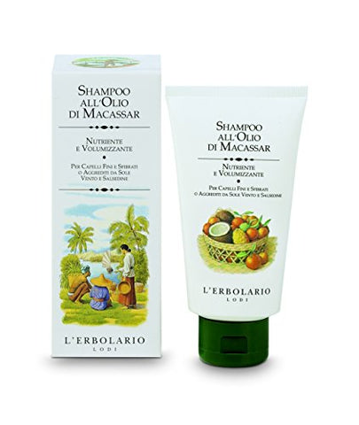 L'Erbolario Macassar Oil Shampoo Nourishing and Volume-boosting For fine and brittle or Sun-damaged Hair