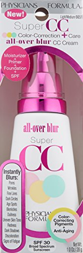 Physicians Formula Super CC Color-Correction + Care CC Cream, Light/Medium, 1 Ounce, SPF 30