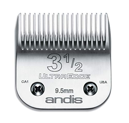 Andis 64089 Ultra Edge Carbon Infused Steel Clipper Blade, Size 3 1/2, 3/8 Inch Cut Length