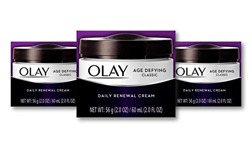 Olay Age Defying Classic Daily Renewal Cream, Face Moisturizer 2. fl oz(Pack Of 3)  Packaging may Vary