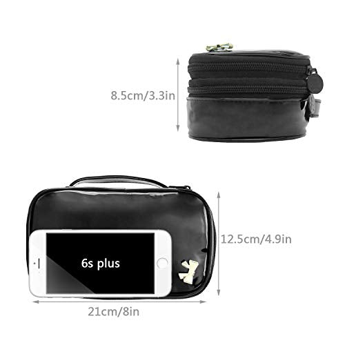 Relavel Makeup Bag Small Travel Cosmetic Bag For Women Girls Makeup Brushes Bag Portable 2 Layer Cos