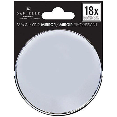 Danielle High Magnification Portable Suction Cup Mirror, 18X