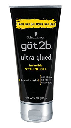 Got2b Ultra Glued Invincible Styling Hair Gel, 6 Ounces (Pack of 2)