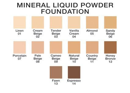 Mineral Liquid Powder Foundation ~Pale Beige~