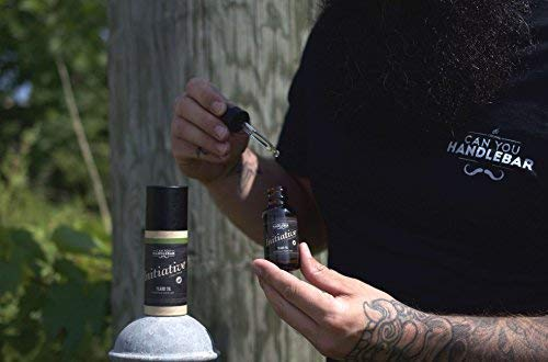 Initiative   Citrus Bergamot And Lavender Aroma   Beard Oil | 1oz Amber Bottle With Dropper Top