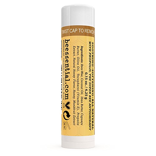 Beessential All Natural Honey Lip Balm 2 Pack   Heals And Prevents Dry And Chapped Lips â?? Great Fo