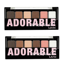 Pack of 2 NYX The Adorable 6 Shadow Palette TAS01