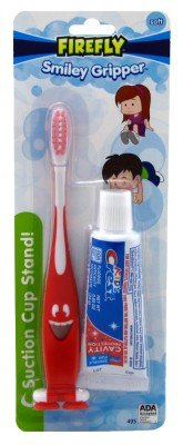 Firefly Toothbrush Smiley Gripper With Toothpaste (6 Pack)