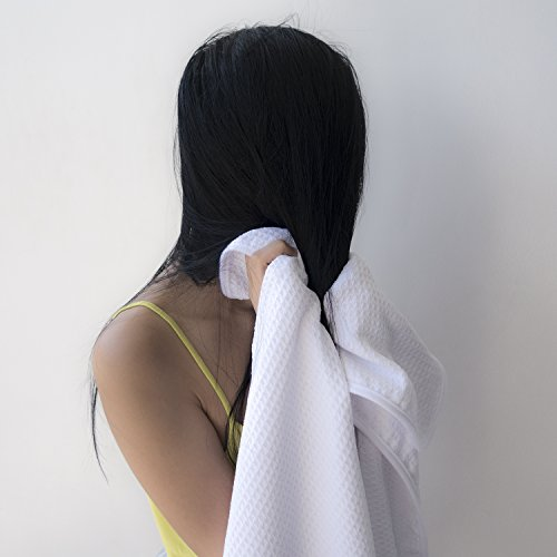 Microfiber Hair Towel   For Fast, Frizz Free Drying   Premium Large, Compact, Lightweight And Absorb