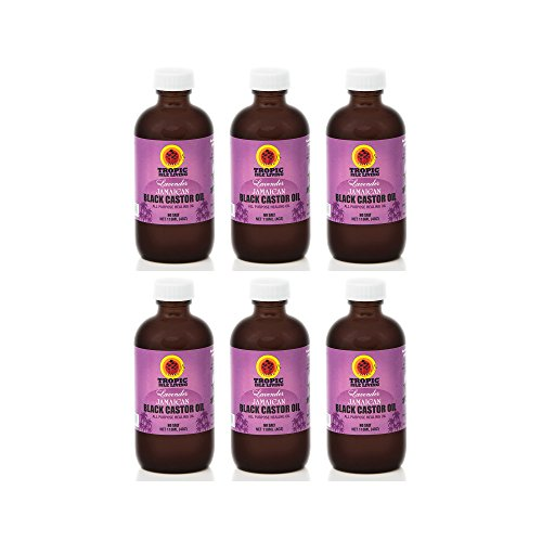 Tropic Isle Living Lavender Jamaican Black Castor Oil, 4 oz (Pack of 6)