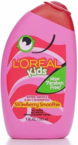 L'Oreal Kids 2-in-1 Shampoo Strawberry Smoothie 9 oz (Pack of 12)