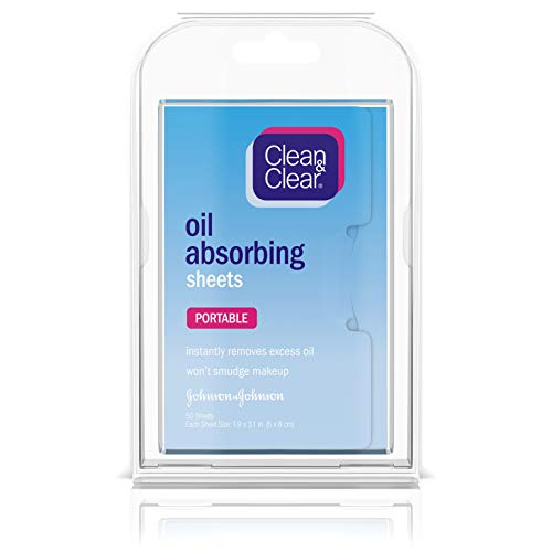 Clean & Clear Oil Absorbing Facial Sheets, 6 Pack Of 50 Sheets