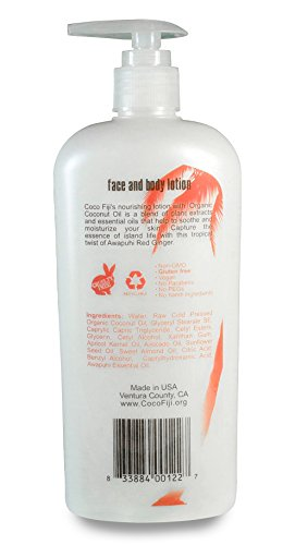 Coco Fiji, Coconut Oil Infused Face & Body Lotion, Awapuhi Seaberry 12oz