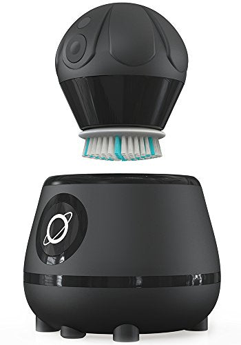 Tao Clean Orbital Facial Brush And Cleansing Station   Deep Space Black   Electric Face Cleansing Br