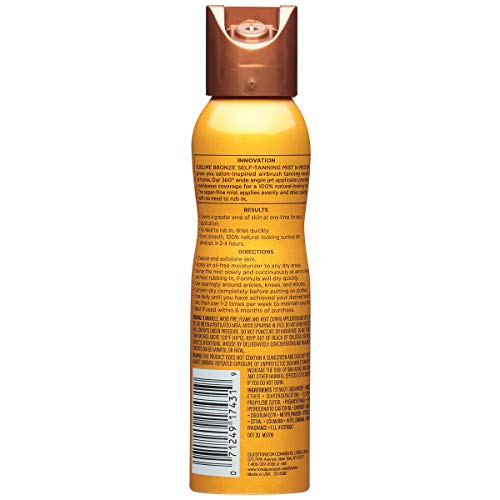 Self Tanning Spray By L'oreal Paris, Sublime Bronze Self Tanning Mist, 4.6 Oz., Spray Tan