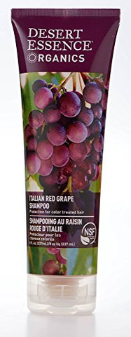 Desert Essence Organics Italian Red Grape Shampoo   8 Fl Oz   Pack Of 2   Protection For Color Treat