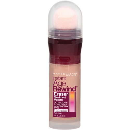 Maybelline New York Instant Age Rewind Eraser Treatment Makeup, Tan 340, 0.68 Fluid Ounce