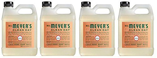 Mrs. Meyers Liquid Hand Soap Refill tOEJmu, 33 Oz, 4Pack (Geranium)