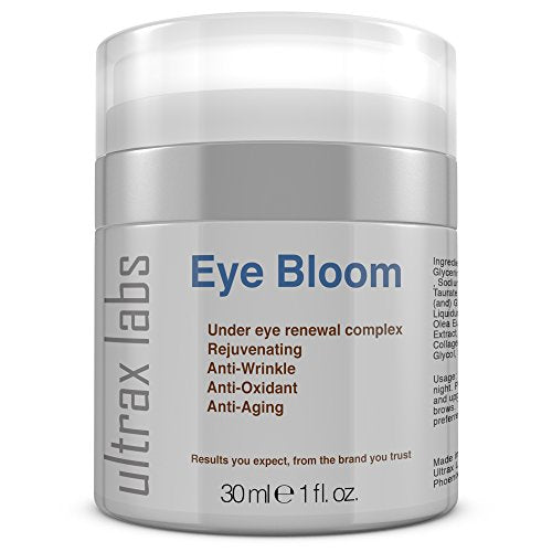 Ultrax Labs Eye Bloom | Under Eye Cream for Wrinkle Repair, Puffiness, Dark Circles and Bags