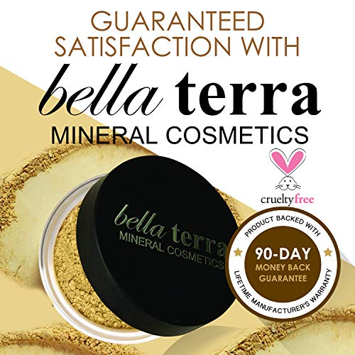 Bella Terra Mineral Powder Foundation | Long Lasting All Day Wear | Buildable Sheer To Full Coverage