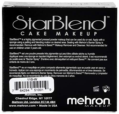 Mehron Makeup Star Blend Cake (2 Oz) (White)
