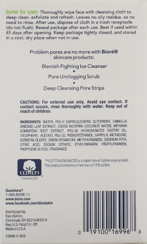 Biorã© Daily Facial Cleansing Cloths, 60 Count, With Dirt Grabbing Fibers For Deep Pore Cleansing An