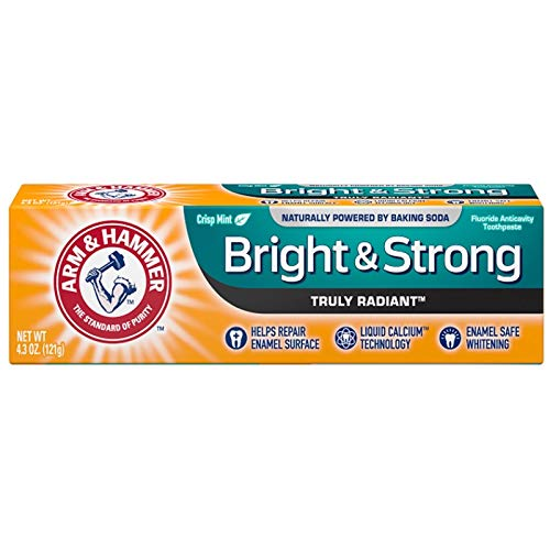 Arm & Hammer Truly Radiant Bright & Strong Fluoride Anticavity Toothpaste Fresh Mint 4.3 Oz ( Packs