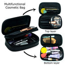 Image of Relavel Makeup Bag Small Travel Cosmetic Bag For Women Girls Makeup Brushes Bag Portable 2 Layer Cos