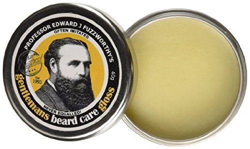 Professor Fuzzworthy's Beard Balm Gloss Leave In Conditioner All Natural Organic Beard Care With Lea