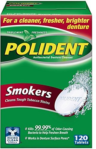 Polident Smokers Denture Cleanser 120 ea (Pack of 6)