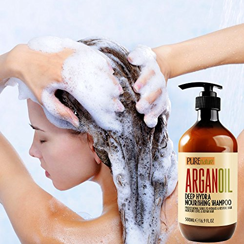 Moroccan Argan Oil Shampoo No Sls No Sulfate, Organic For Damaged, Dry, Curly Or Frizzy Hair   Thick