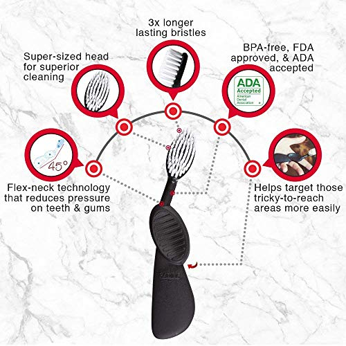 Radius Toothbrush Flex Brush Left Hand | Bpa Free And Ada Accepted | Designed To Improve Gum Health