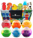 Image of Bubble Bath Bombs For Kids With Surprise Toys Inside For Boys And Girls By Two Sisters. 6 Large 99%