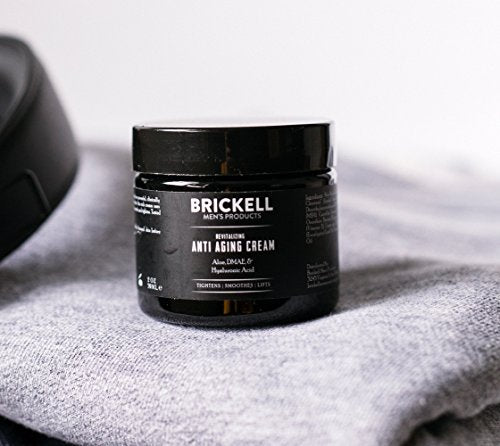 Brickell Men's Revitalizing Anti-Aging Cream For Men, Natural and Organic Anti Wrinkle Night Face Cream To Reduce Fine Lines and Wrinkles, 2 Ounce, Scented