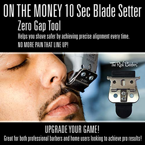 The Rich Barber On The Money 10 Second Blade Setter | Zero Gap Tool For Sharper Lines, Cleaner Fades