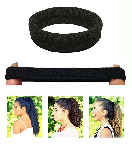 Burlybands Large Hair Ties For Thick Heavy Or Curly Hair. No Slip No Damage Seamless Ponytail Holder