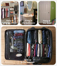 Image of WODISON Foldable Clear Hanging Travel Toiletry Bag Cosmetic Organizer Storage Black
