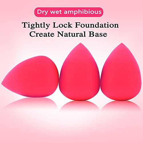 Oxeely 5pcs Beauty Makeup Sponges Original Blenders set, Latex Free Foundation Blending for Liquid, Cream and Powders