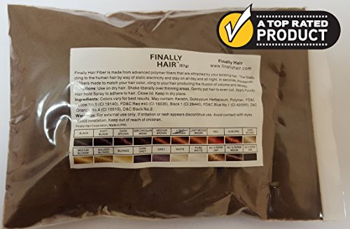 Hair Building Fibers 57 Grams. Highest Grade Refill That You Can Use for Your Bottles From Competitors Like Toppik?, Xfusion?, Toppix? (Light Brown)